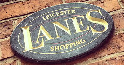 The Lanes are an independent shopping area in Leicester